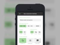 Vocabular App mobile app concept ui made with invision