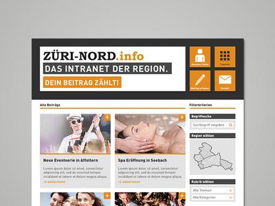 ZÜRI-NORD.info websedign ui schoolproject