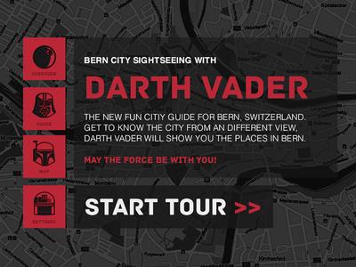 City Guide, Bern Switzerland schoolproject ui star wars artproject darth vader