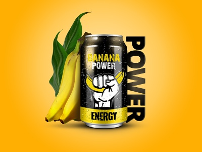Banana Power Energy merch brand product design graphic design design product inspiration lubossito power nature mockup illustrator vector photoshop adobe behance dribbble energy yellow banana