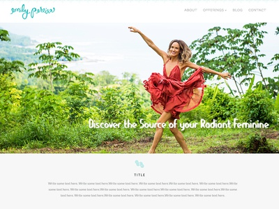 Emily ui design ui design website concept website