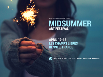 Midsummer festival typography branding art direction banner design banner ads banner design