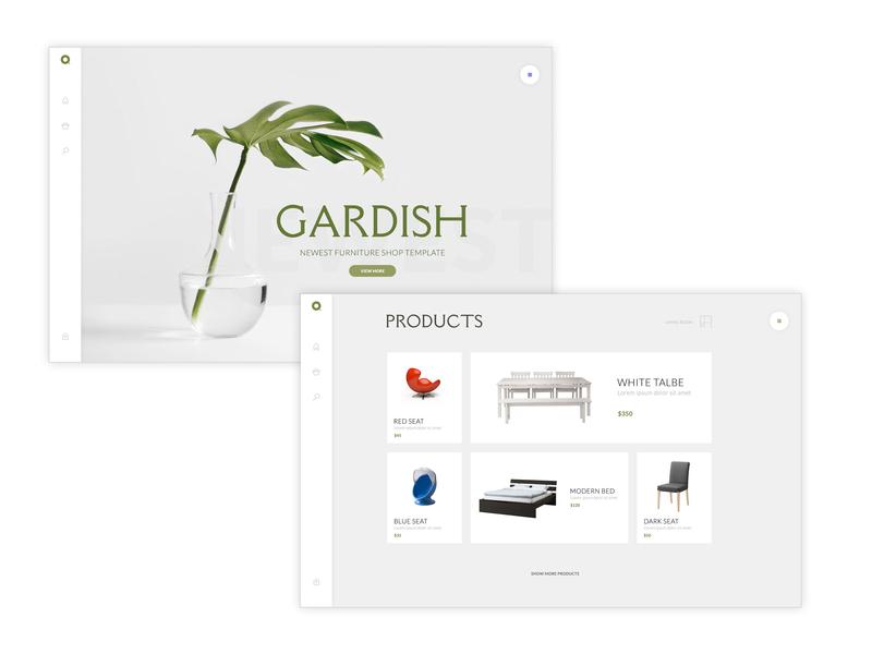 Gardish website concept branding art direction ui template uidesign website design furniture design design