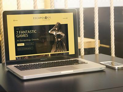 Escapology art direction ui design ui  ux design ux designer website design website concept website