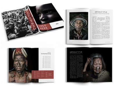 minimalist magazine template layout design etsy magazine template catalog design magazine design