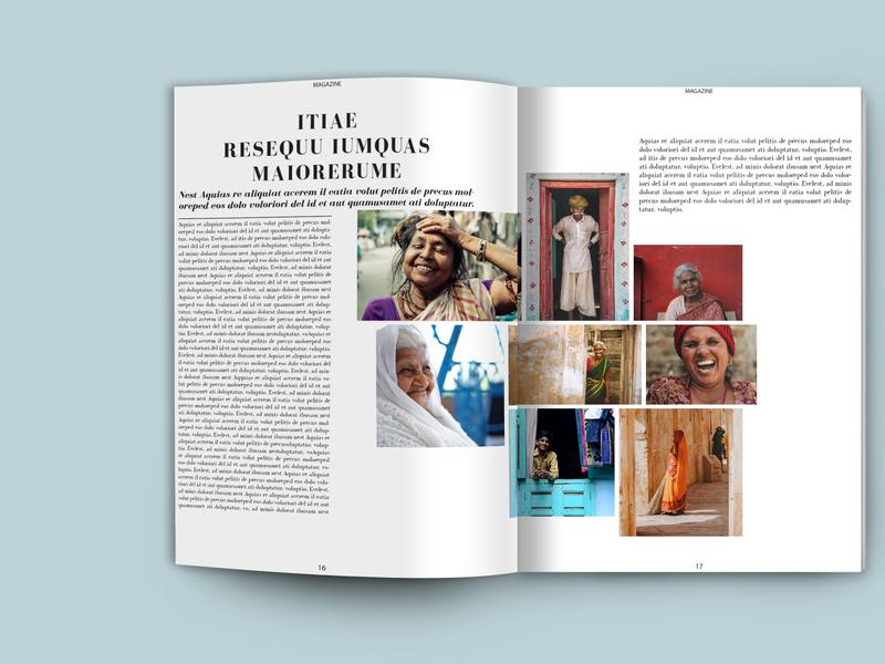 Minimalist magazine template brochure layout brochure template instagram magazine design catalog design etsy instant download magazine layout magazine template