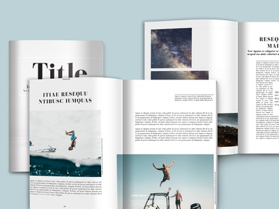 Magazine template to customise