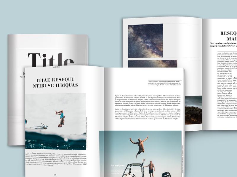 Magazine template to customise etsy instant download catalog template indesign template indesign brochure template magazine template