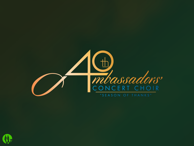 Ambassadors' Concert Choir 40th anniversary logo