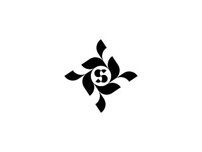 S / floristics branding design logo symbol letter florist s