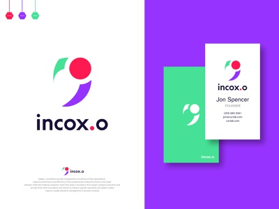 incox.o - App Logo Design Branding. creative design branding agency minimalist logo technology best logo business card i logo app logo incox brand branding identity graphic design designer clever smart modern mark logomark brandmark illustration logo vector logo design design branding