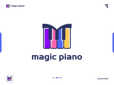 magic piano - App logo design branding.
