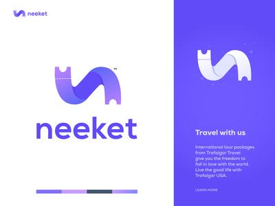 neeket - Travel Logo Design Branding.