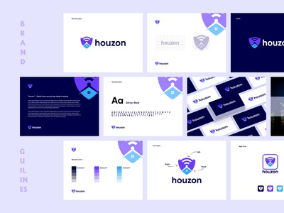 Houzon - Digital Home Security Brand Guidelines.
