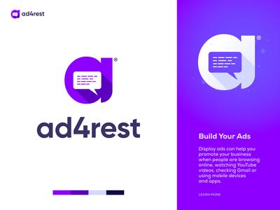 ad4rest - Online Ads Maker Website Logo Design Branding.
