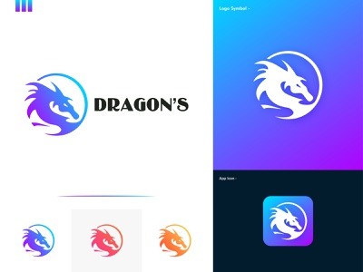 Dragon Logo Design Branding (for sale) 🐉 colorful logo dragon logo design dragon logo blue dragon chinese japanese fire water mythical dragon dragons dragon icon clever smart modern illustration mark logomark brandmark logo logo design vector branding design