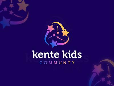 Kente kids community - Kids shop logo design branding✨ logomaker logo need baby toy shop shop logo logo idea best logo modern colorful community typography mark logomark brandmark logo design vector branding design kid logo kids logo