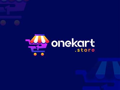 OneKart.store - Online store/shop logo design branding🛒 illustration bag market 1 logo delivery e-commerce supermarket online shop modern logo shopping minimalist logo shop logo logo mark logomark brandmark logo design vector branding design store
