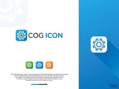 """COG ICON"" logo design"