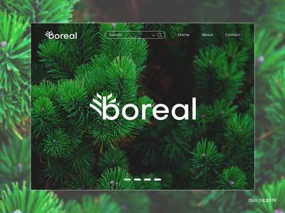 """""""boreal"""" Landing page (Logo)"""