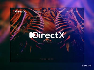 """DriectX"" Landing page (Logo)"