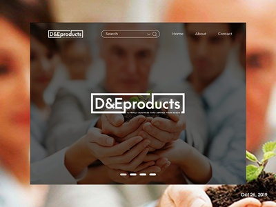 D&Eproducts Landing page (Logo)
