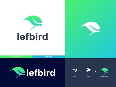 Natural business logo design branding (lefbird)