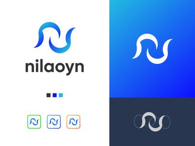 Noilaoyn N letter Logo Design Branding