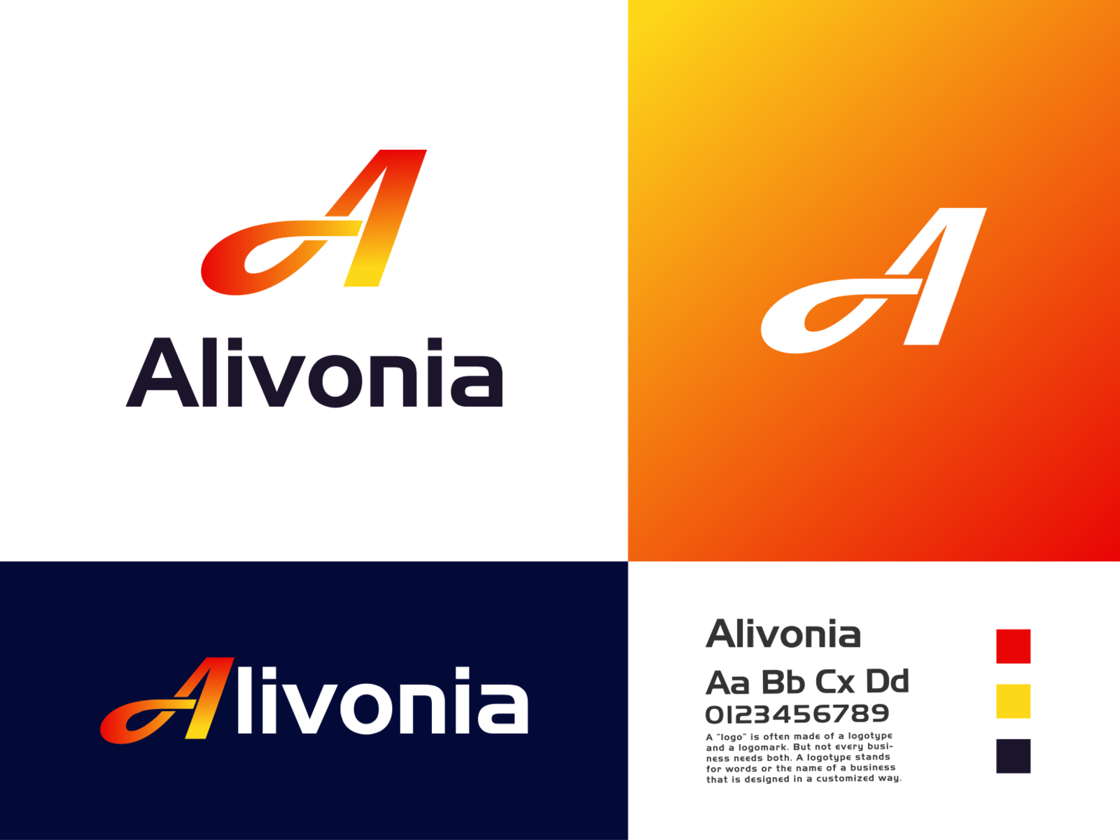 Alivonia A Letter Technology Company Logo Design By Ri