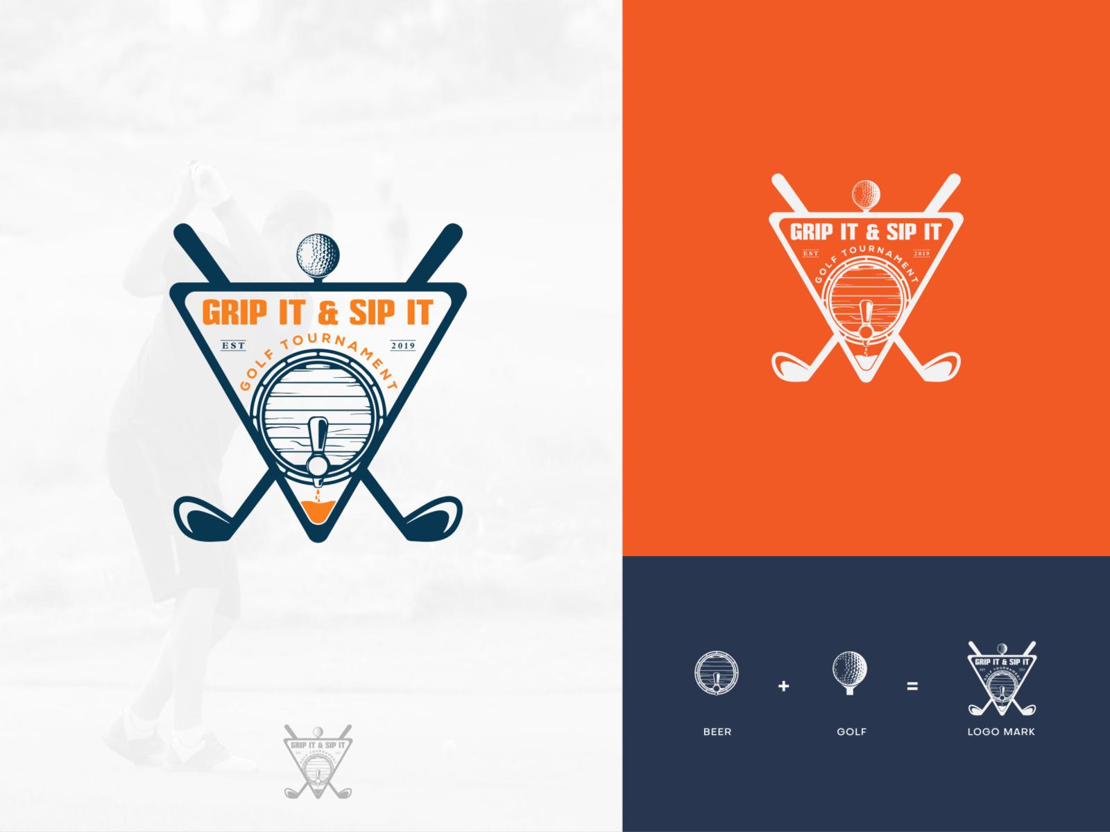Beer Golf Tournament Logo Design By Ri Rafiq On Dribbble