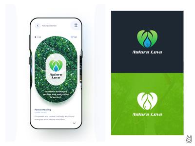 Organic Natur Love Logo Design