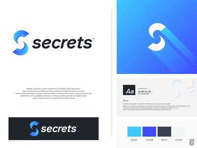 Secrets - Consultancy software company logo branding design