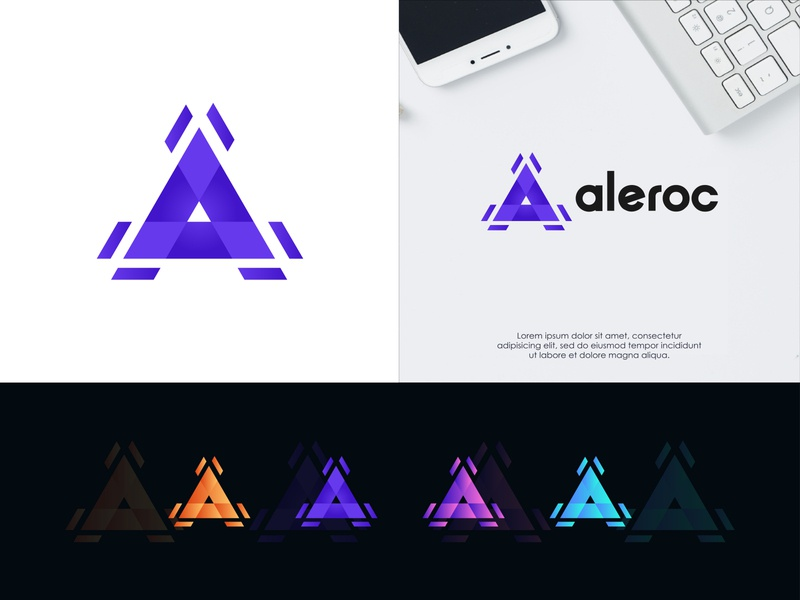Aleroc - Ttechnology business logo design