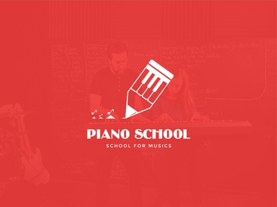 Piano school - School logo design