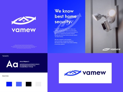 vamew - Home Security Logo Branding Design