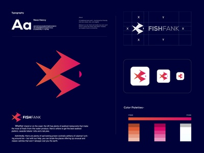 FISHFANK - Seafood logo design branding