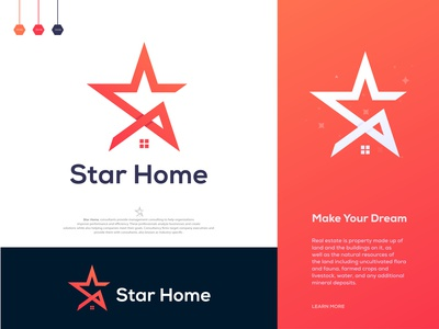 Star Home - Real Estate Logo Design Branding