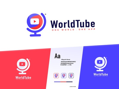 WorldTube - App Logo Design Branding