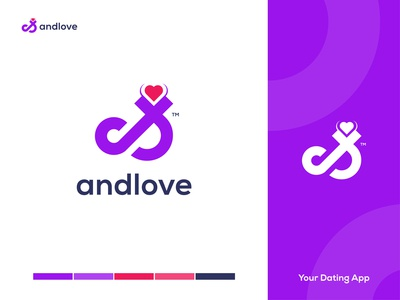 andlove - Online Dating App Logo Design Branding