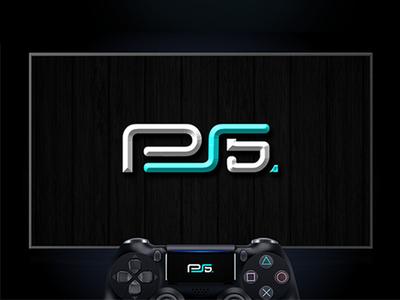 PS5 - PlayStation 5  Logo Design 🎮