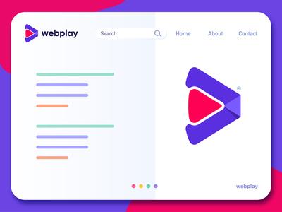 webplay - Website Landing Page Logo Design