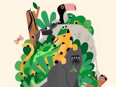 Jungle character design jungle wacom cintiq character design 2d vector illustrator