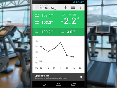 Weighter weight loss android xml fitness health java graph google nexus
