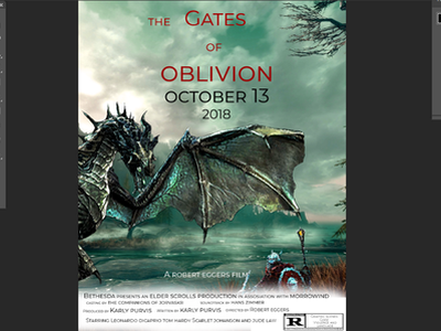 Movieposterscreenshot the elder scrolls skyrim movie creative photoshop adobe illustrator adobe vector illustration design