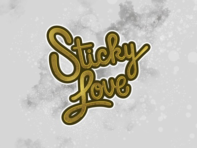 Sticky Love Lettering