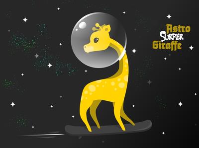 Astro Surfer Giraffe