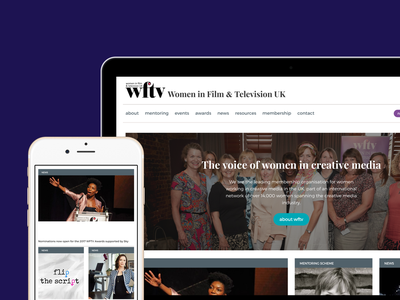 Women In Film And Tv interaction user research usability testing ux design uidesign web design responsive design
