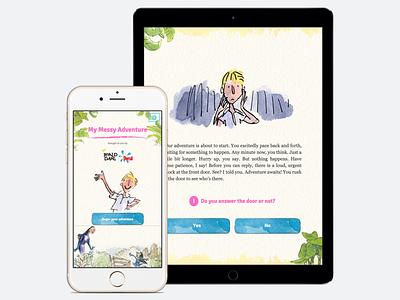 My messy adventure app interaction responsive design ios app ui design