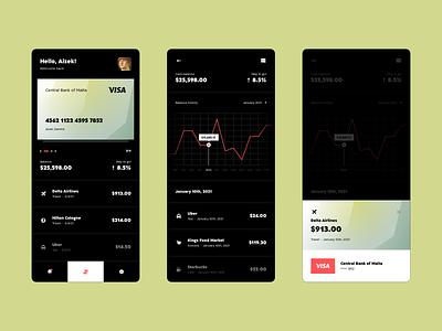 Mobile Banking App design ux concept application app design mobile design mobile app mastercard visa bank app banking mobile ui app ui uidesign