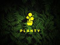 LOGO FOR PLANTY − HOUSEPLANT SHOP